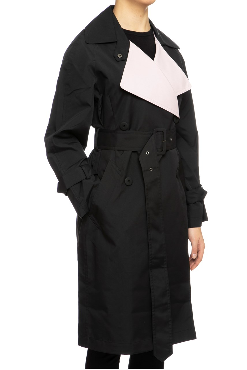 Classic Trench Coat With Contrast Lapel