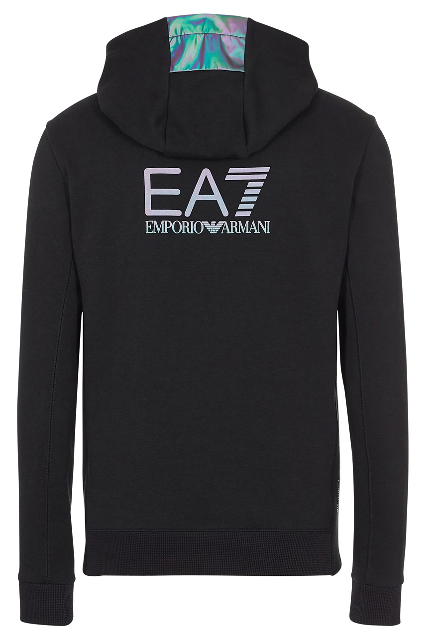 Zip Neck Hooded Sweatshirt