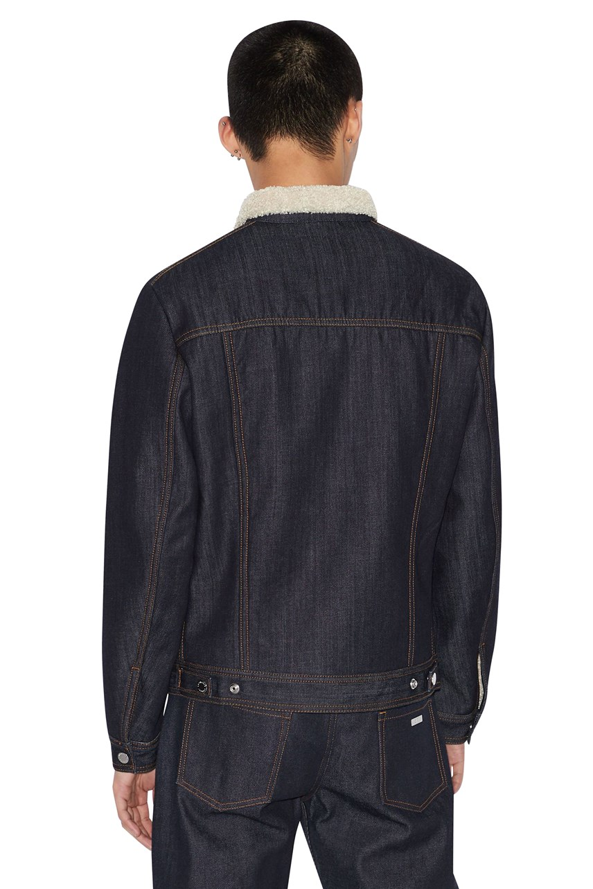 Fleece Collar Denim Jacket