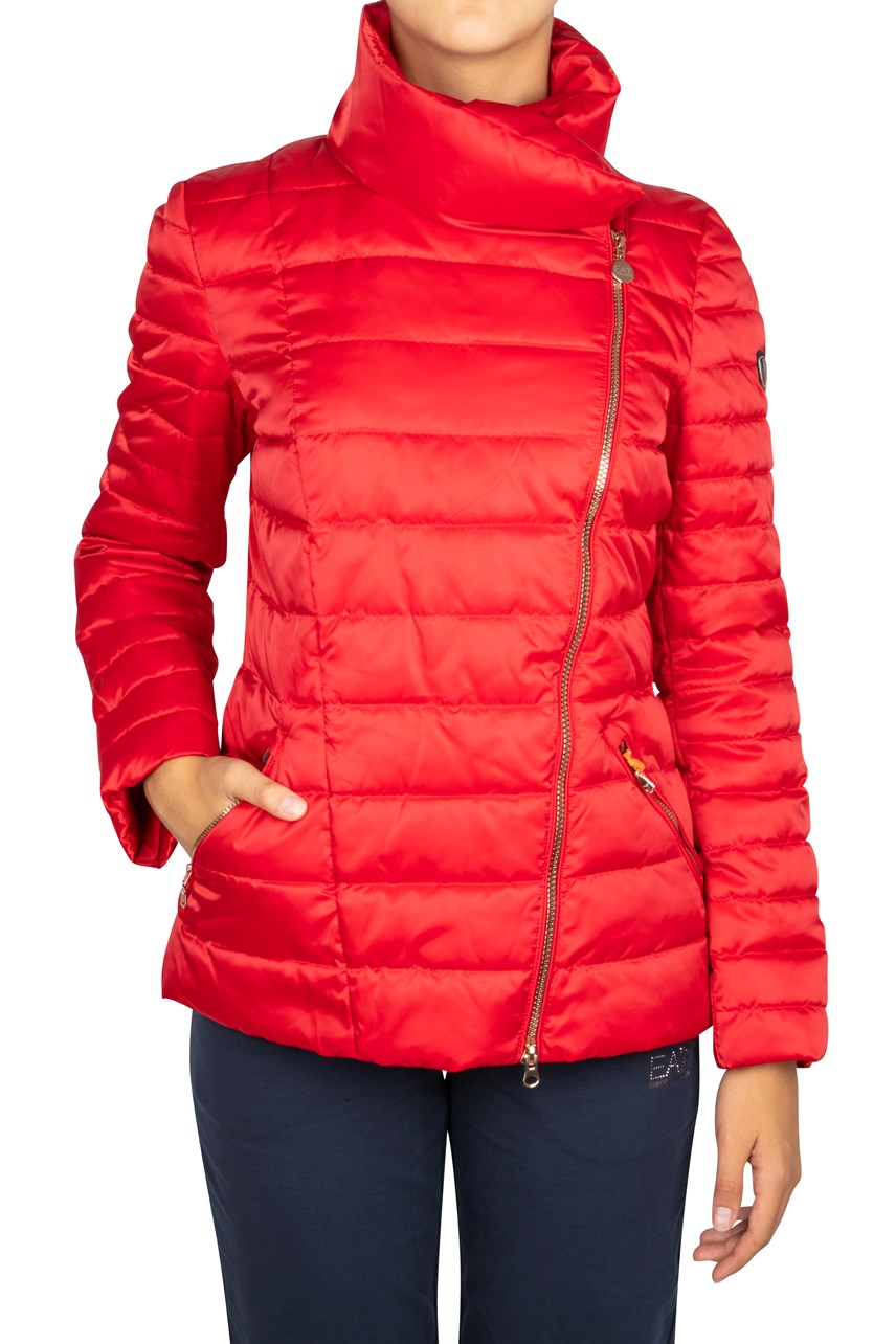 Asymmetrical Zip Puffer Jacket