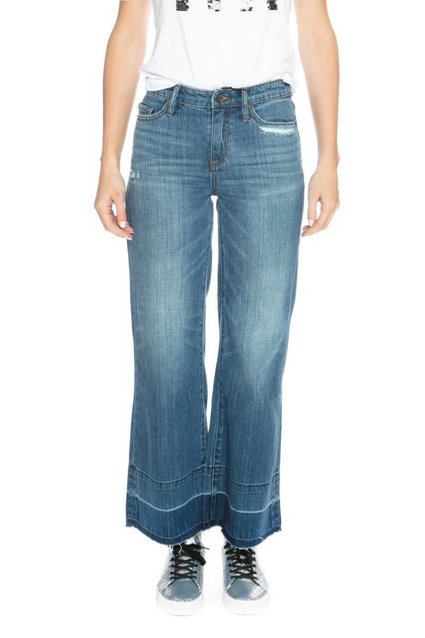 Flared Raw Hem Jean
