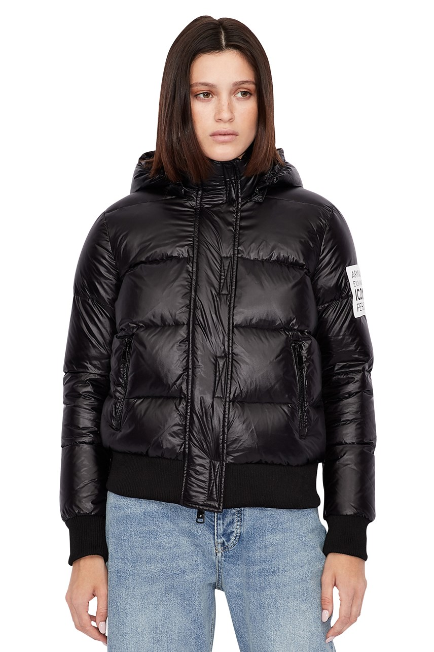Padded Bomber Jacket With Hood