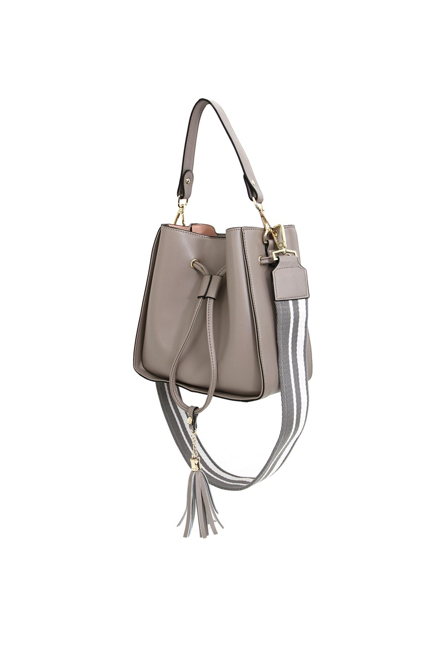 Daisy Leather Bucket Bag