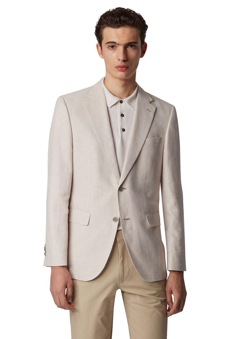 Jestor4 Cotton-Linen Blend Jacket