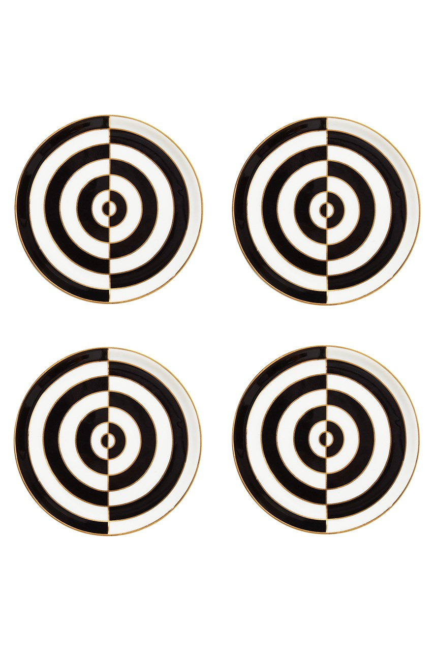 Op Art Coasters - Set of 4