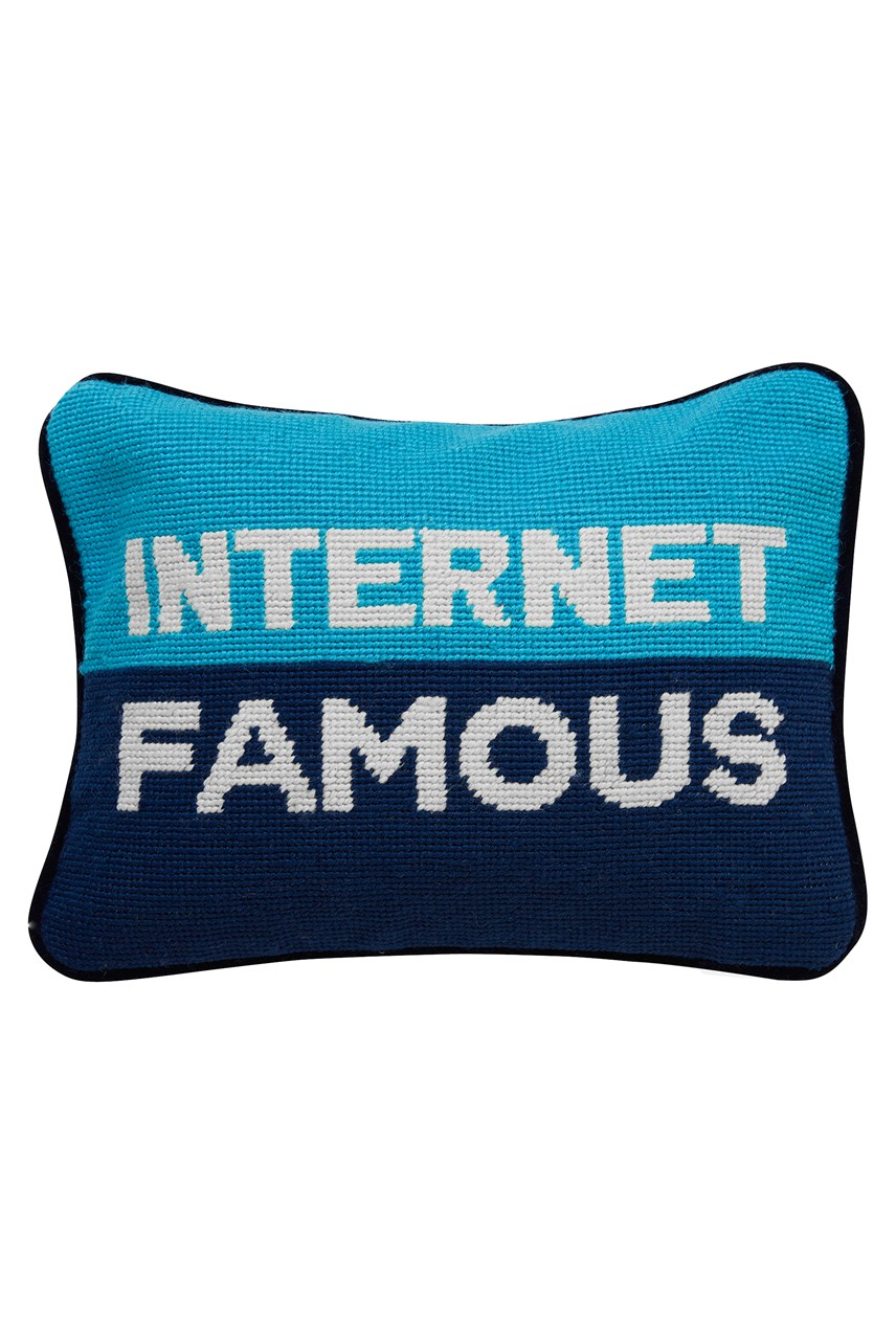 Internet Famous Needlepoint Pillow