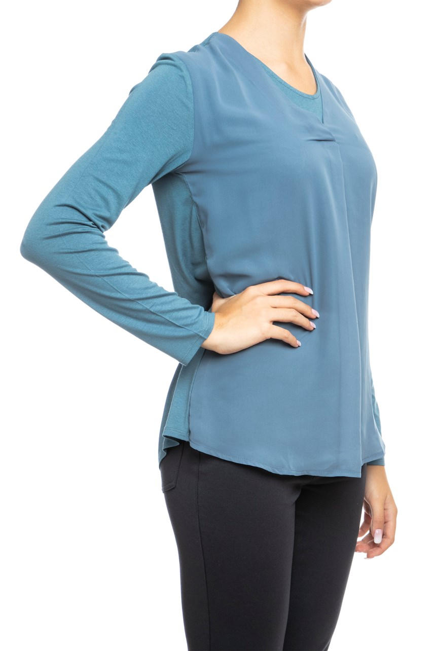 Longsleeve Double Layer Top
