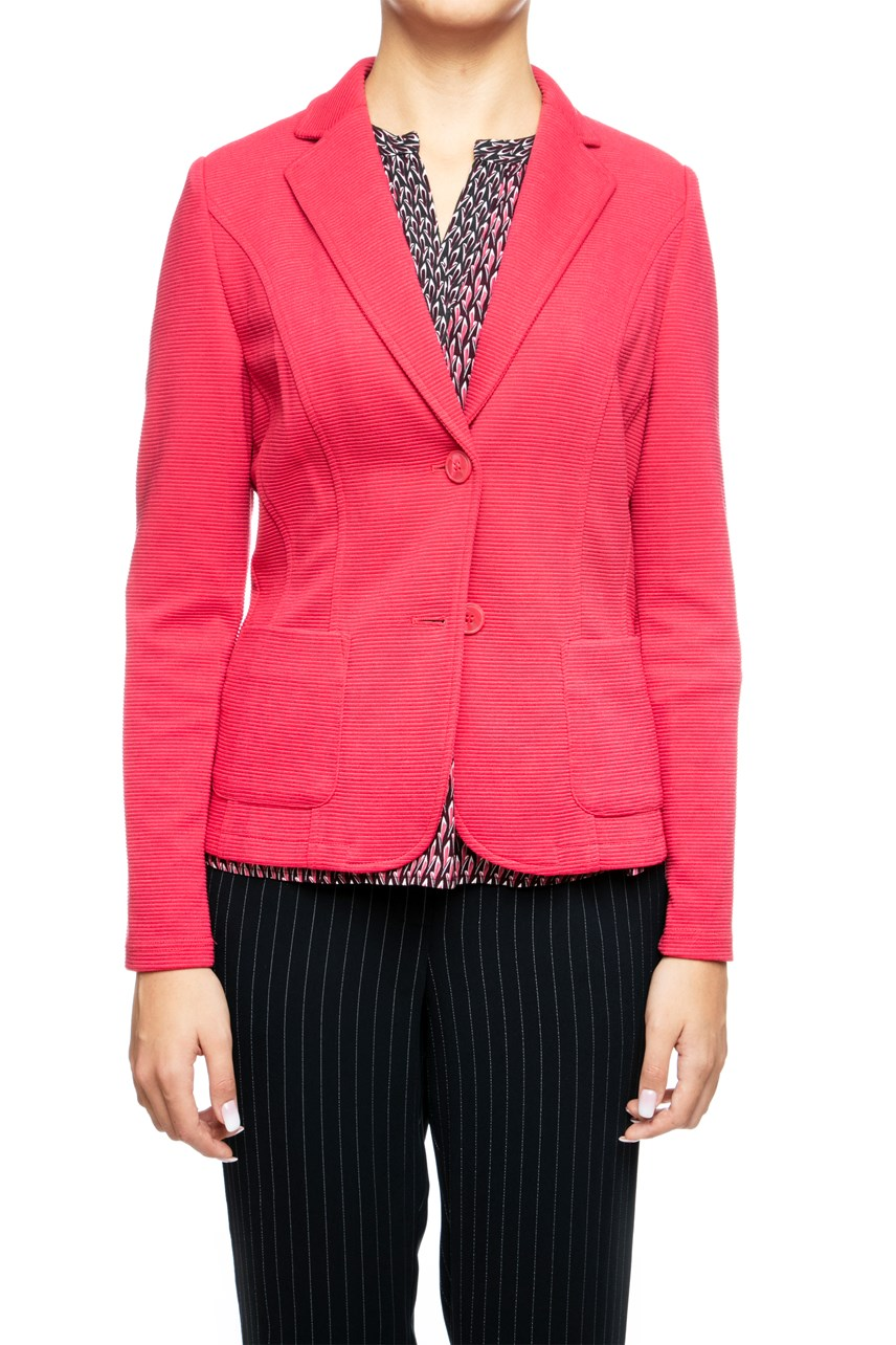 Ribbed Knit Blazer