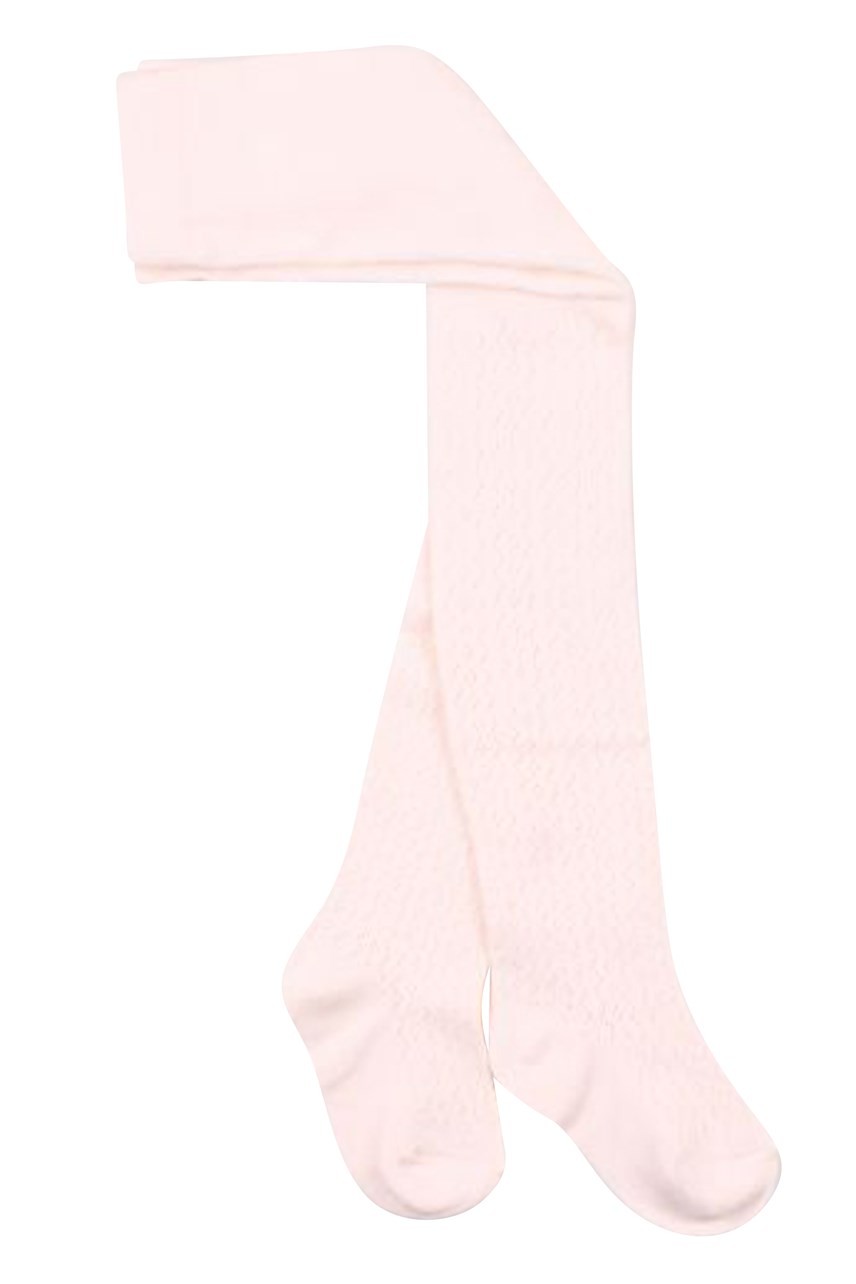 Pointelle Pink Tights