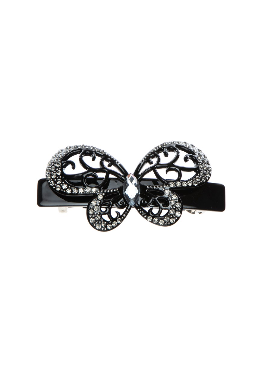 Butterfly Hair Clip with Cubic Zirconia Detail