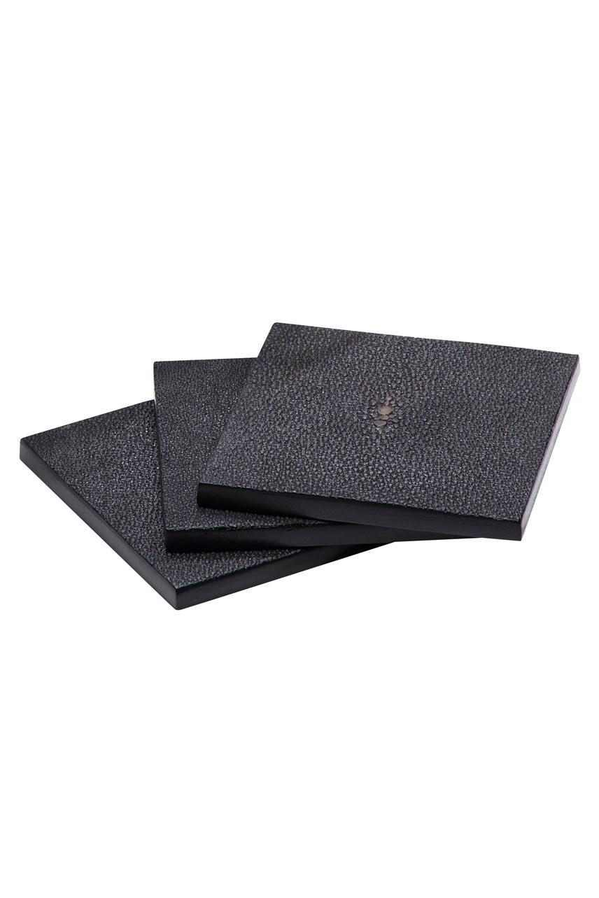Faux Shagreen Coaster - Chocolate