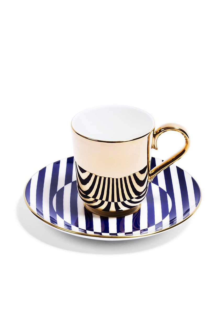 Superstripe Espresso Cup - Gold