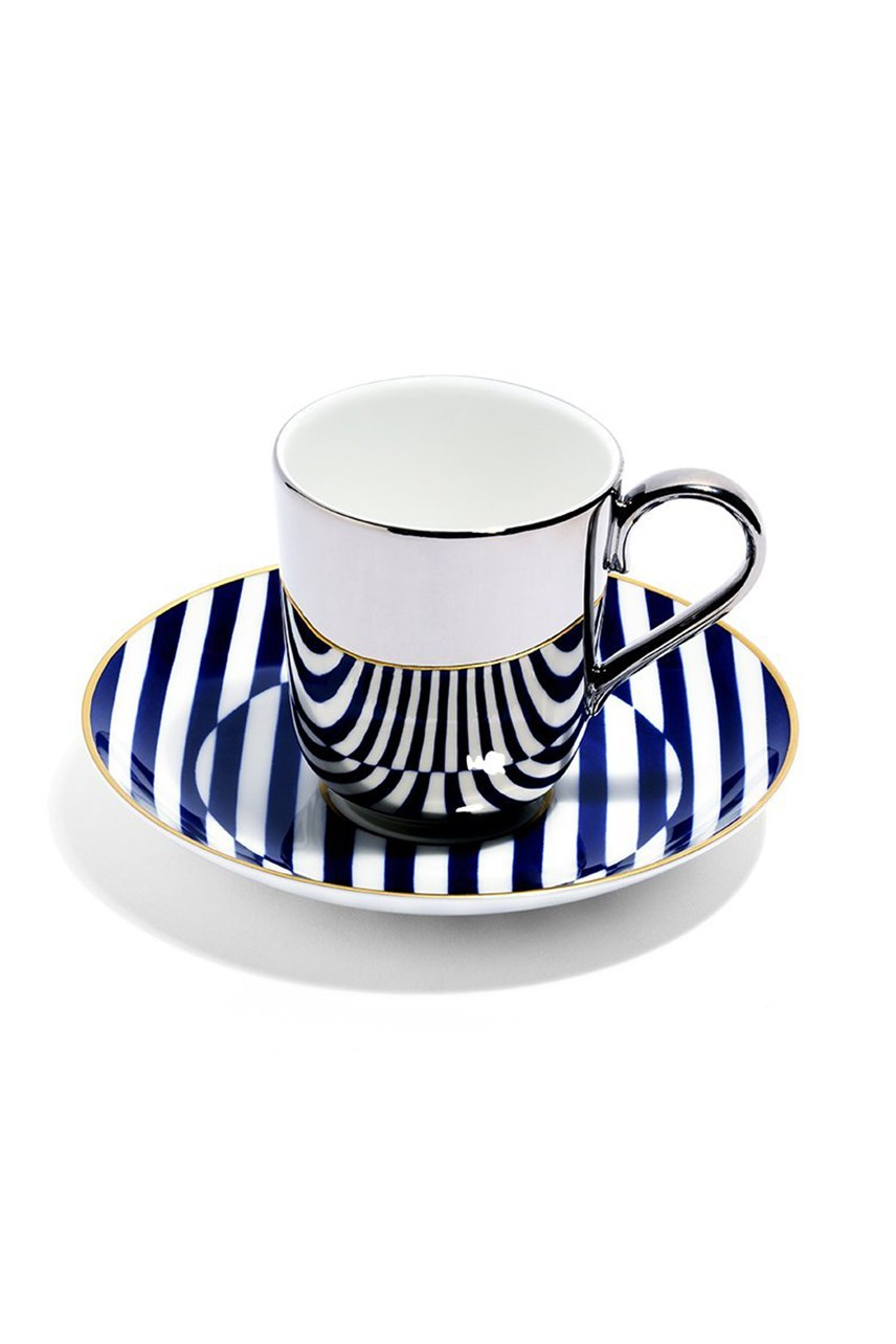 Superstripe Espresso Cup - Platinum
