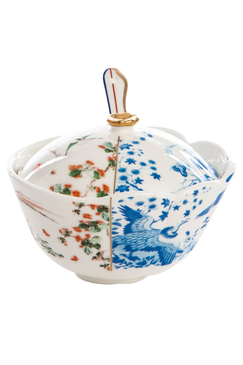 Maurilia Hybrid Porcelain Sugar Pot With Lid