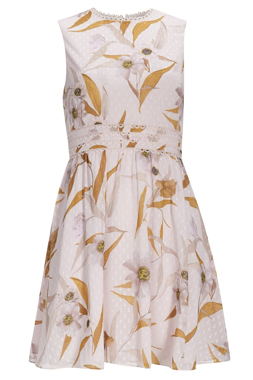 Rontie Cabana Printed Skater Dress