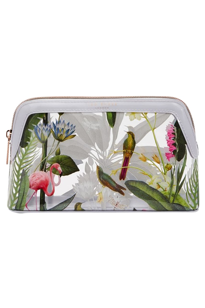 Moi Pistachio Print Clear Makeup Bag