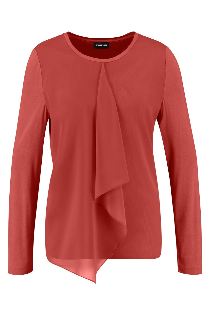 Front Detail Long Sleeve Top