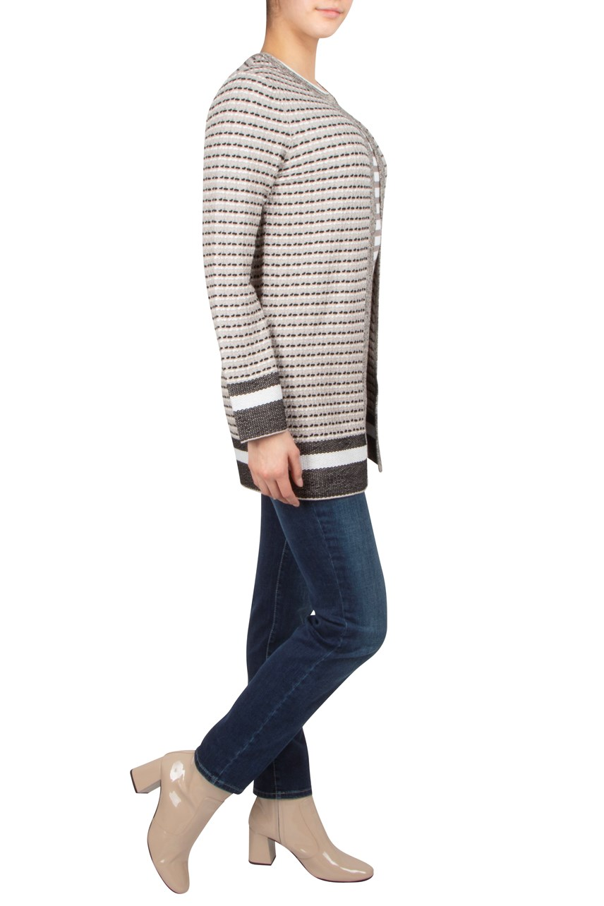 Stripe Long Cardigan