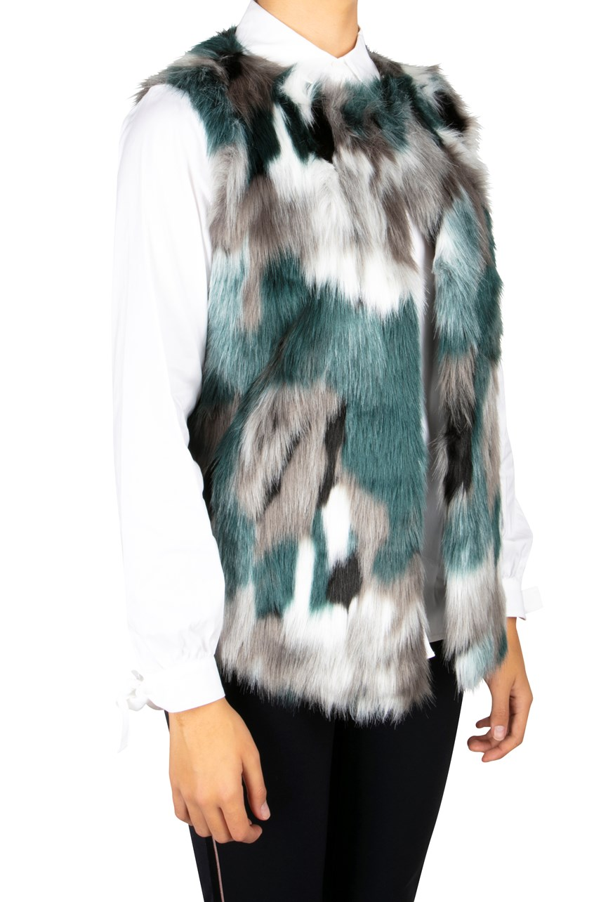 Faux Fur Mottled Vest
