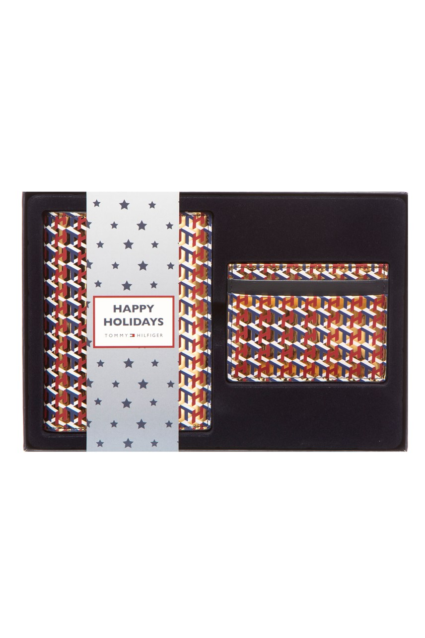 Monogram Passport Cover & Card Holder Gift Set