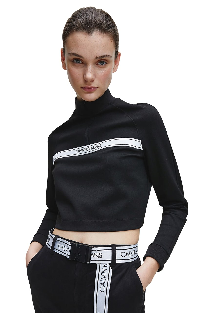 Milano Jersey Zip Neck Sweatshirt