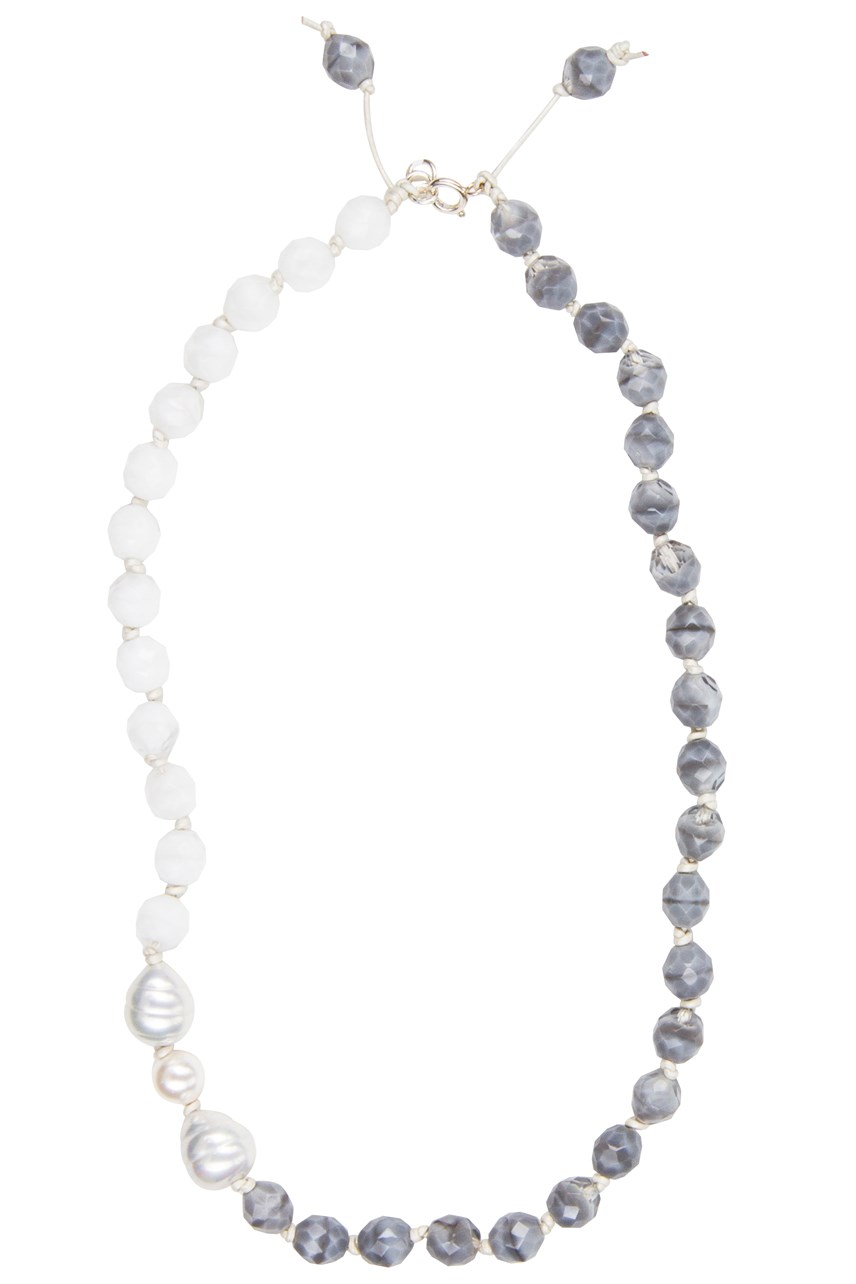 Short Strand Faceted Necklace