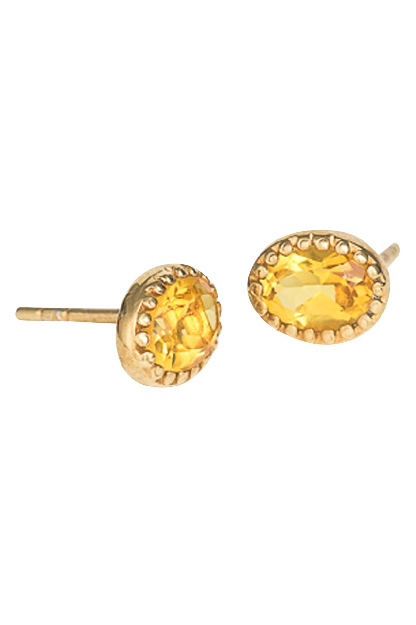 Lucent Saffron Gold Stud Earrings