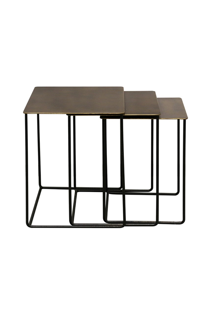Nesting Tables - Black & Copper Finish