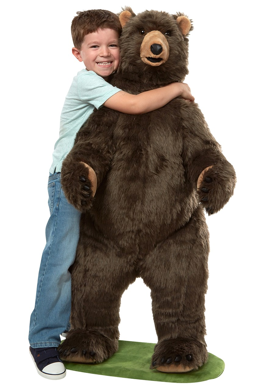 Lifelike Plush Grizzly Bear
