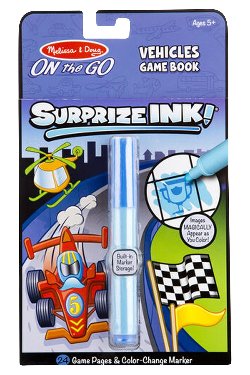 Surprize Ink! Vehicles On The Go Game Book