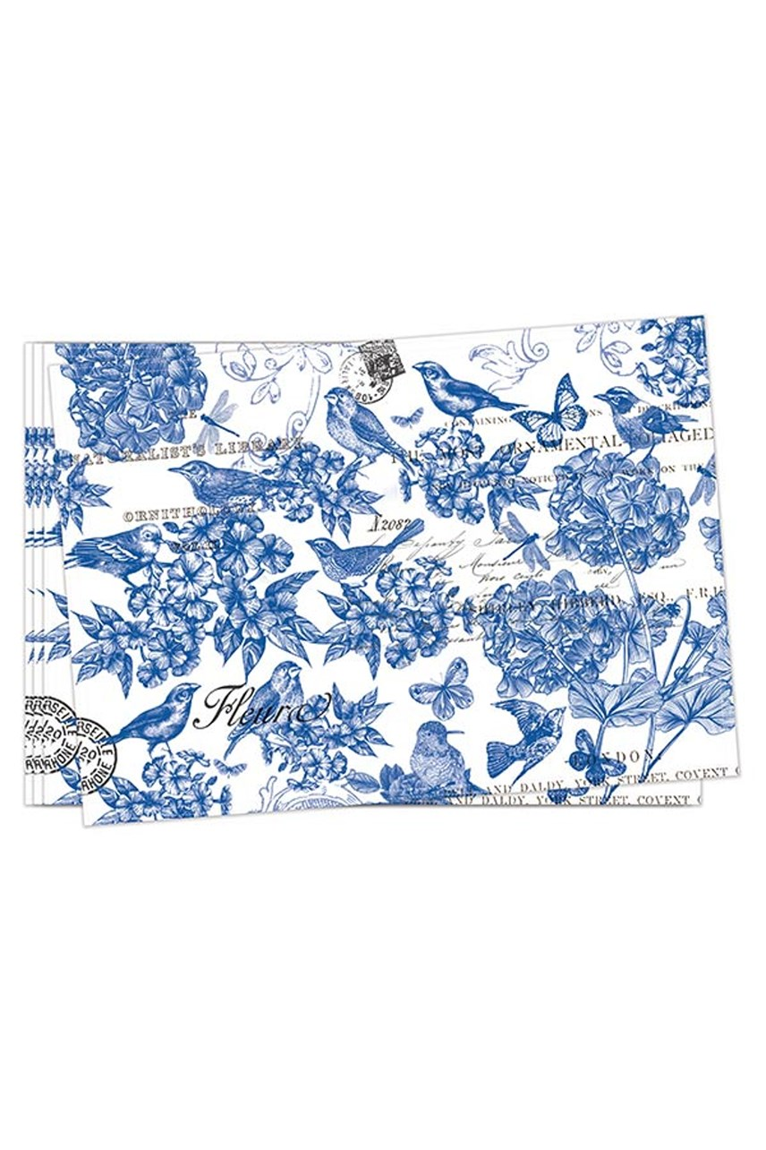 Indigo Cotton Fabric Placemat - Set of 4
