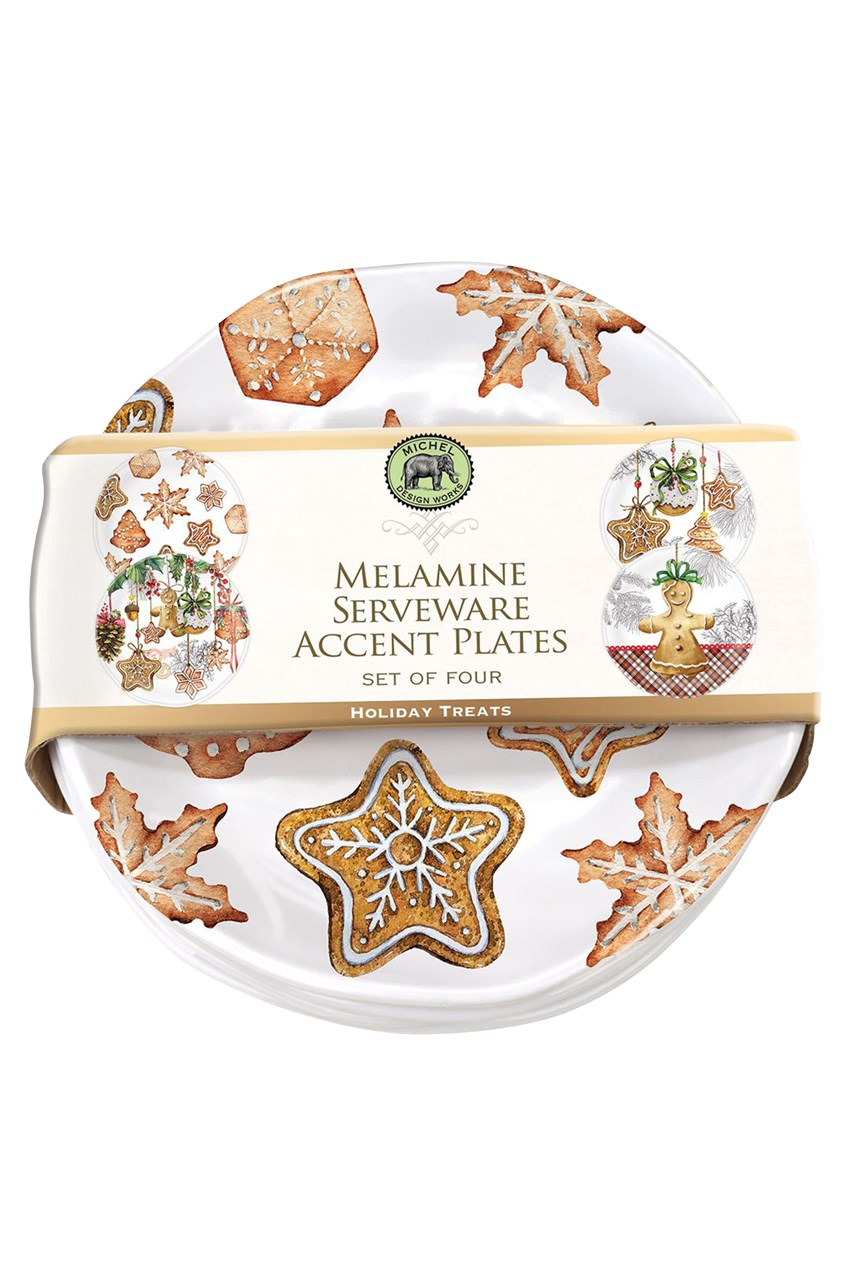 Holiday Treats Serveware Accent Plates - Set of 4