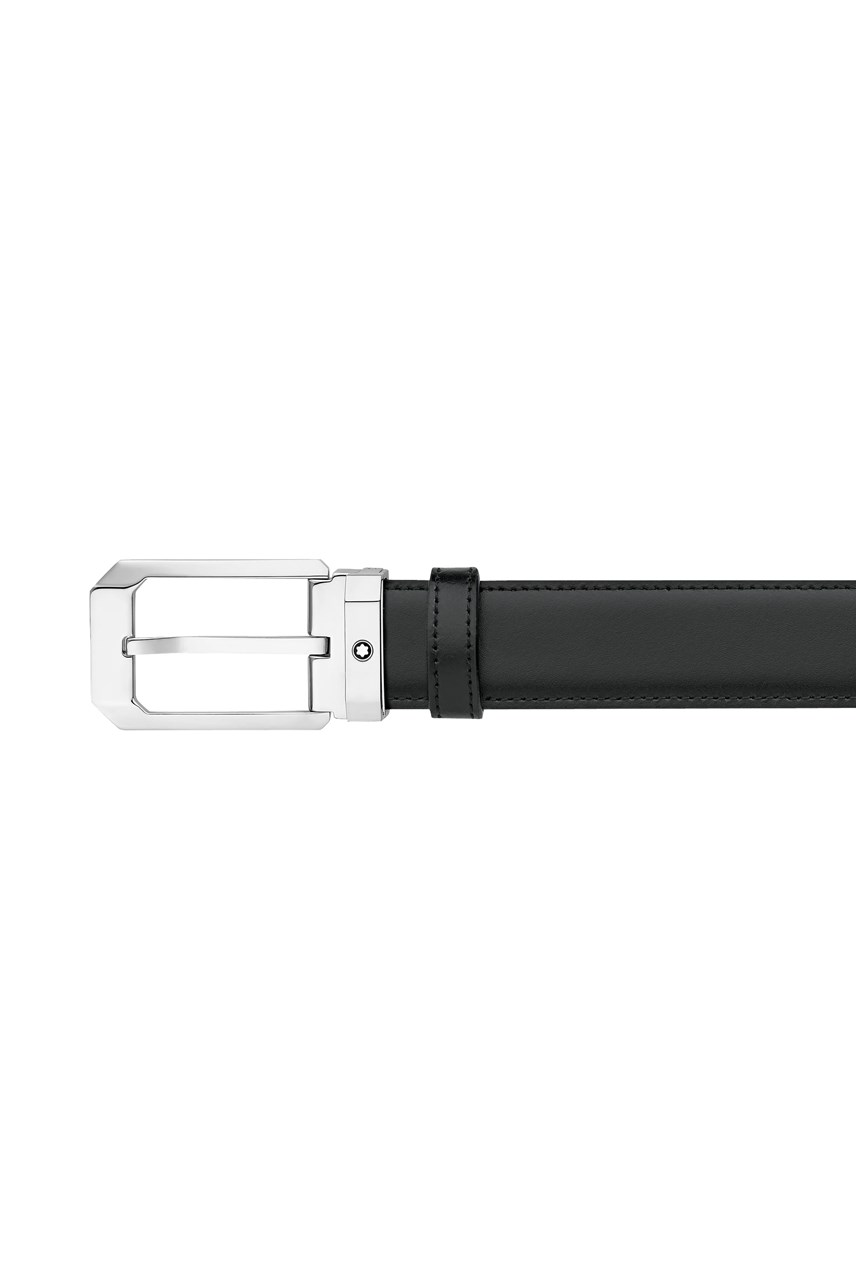 Rectangular Shiny Stainless Steel Pin Buckle Belt