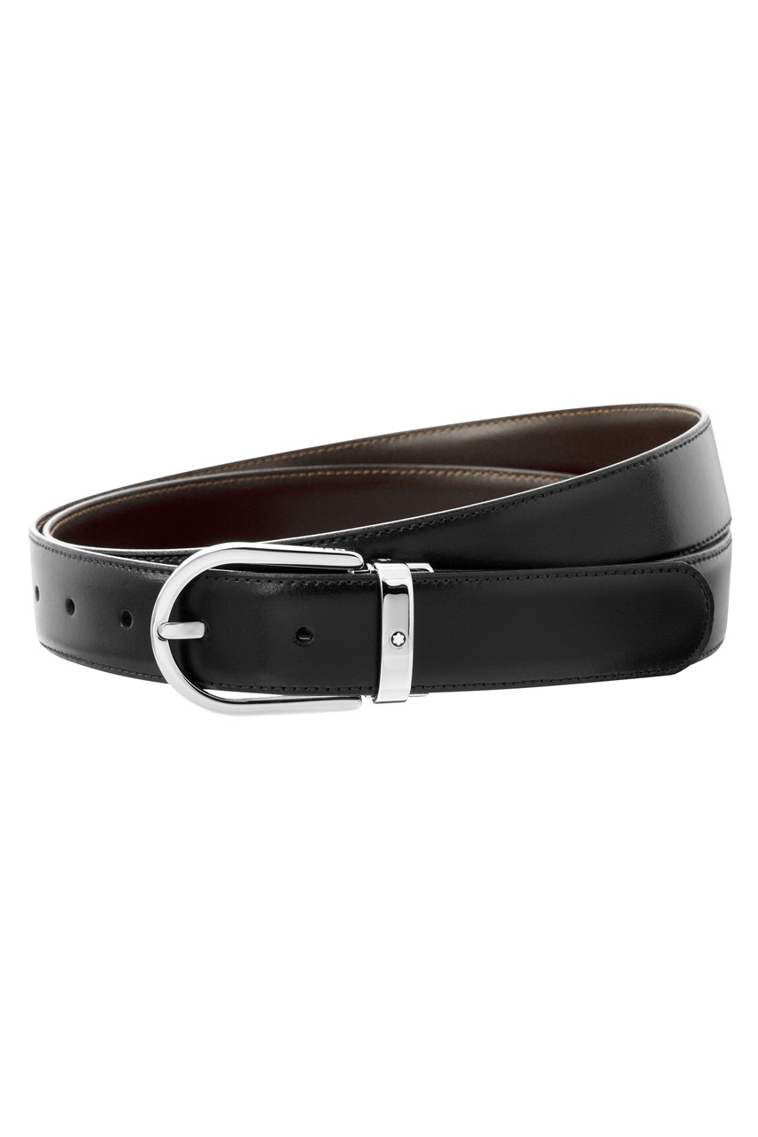 Reversible Belt With Horseshoe Pin Buckle