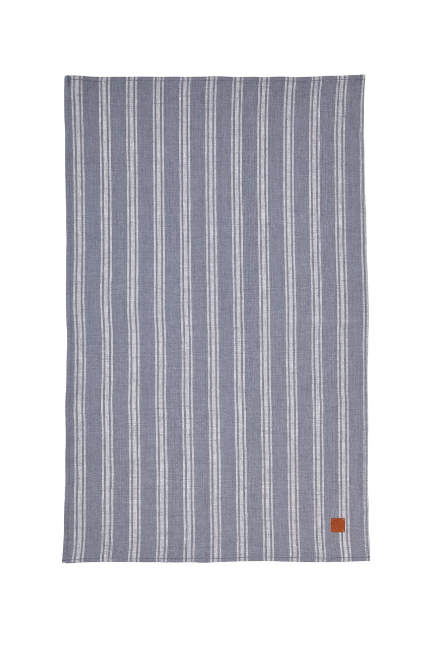 1880 Grey Linen Tea Towel