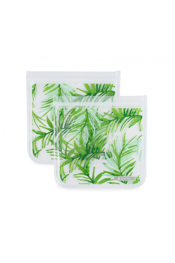 Reusable Travel Bags Set of 2 - Palms