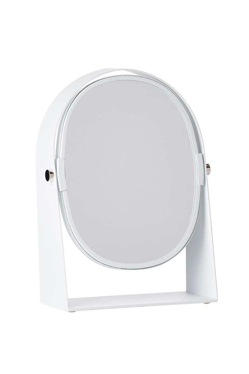 Ume Oval Mirror Magnifier - White
