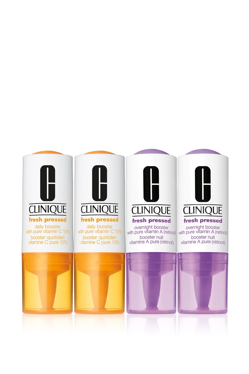 Fresh Pressed Clinical™ Daily and Overnight Boosters with Pure Vitamins C 10% + A (retinol)