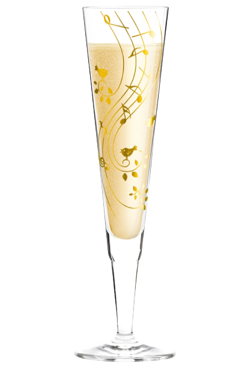 Champus Champagne Flute by Sibylle Mayer