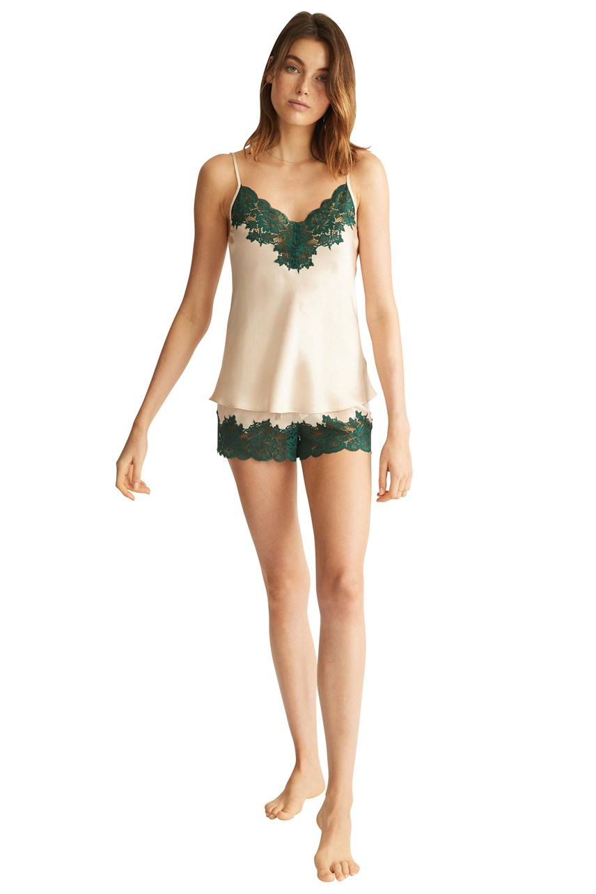 Silk Short With Lace