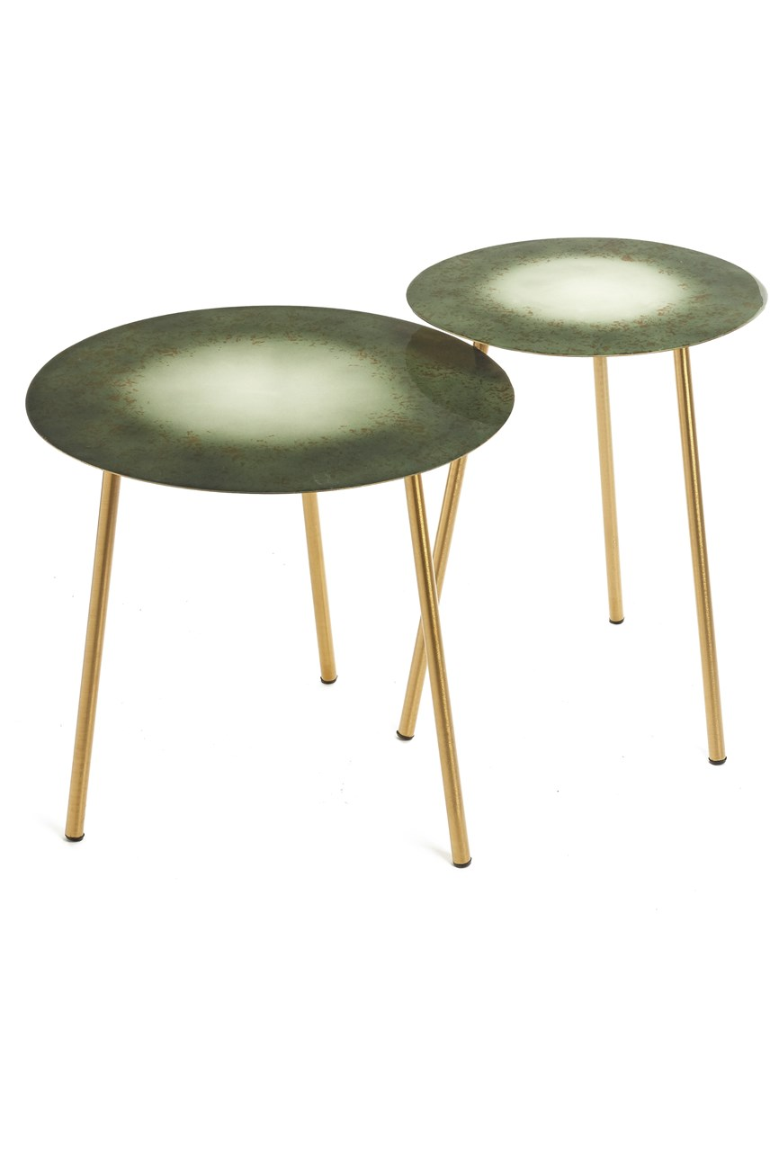 Morlaix Green Side Table