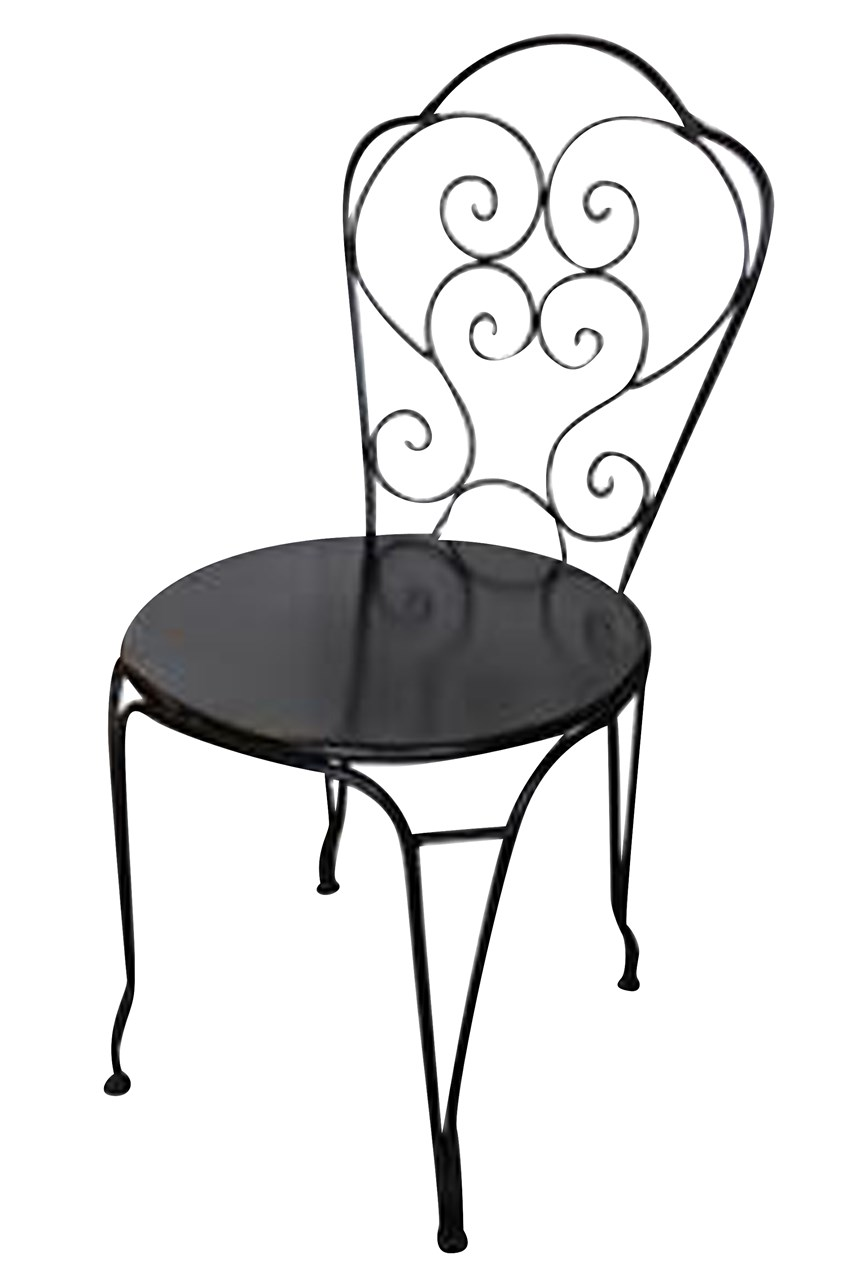 Black Iron Paris Chair