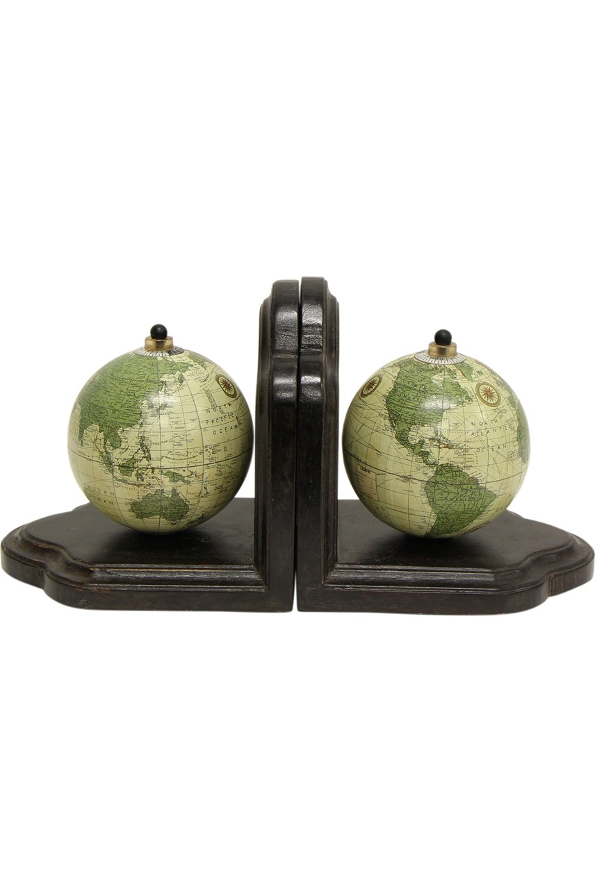 Oscar Globe Bookends