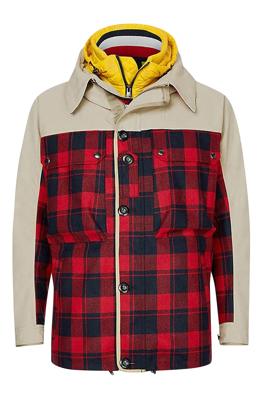 3-In-1 Hooded Check Jacket