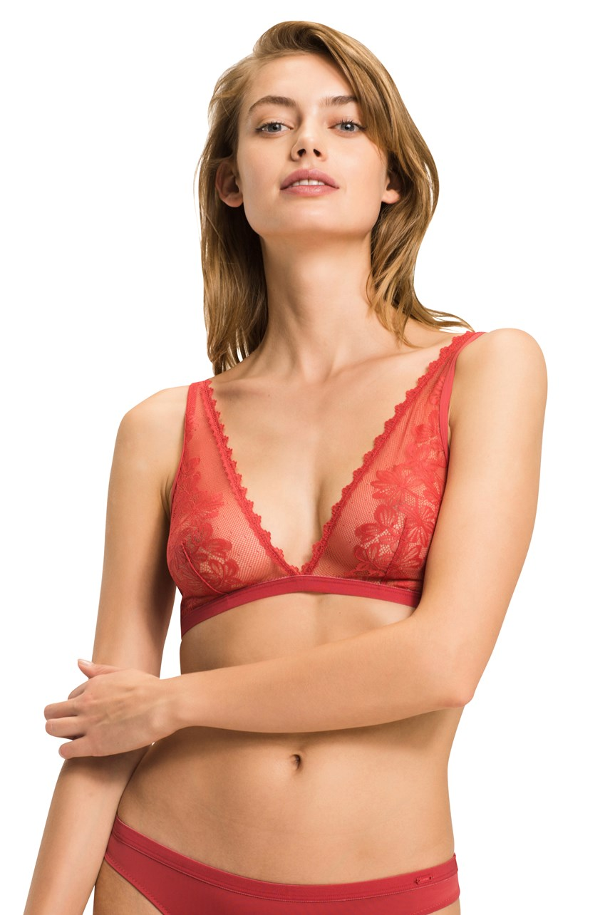 Tommy Lace Triangle Bra