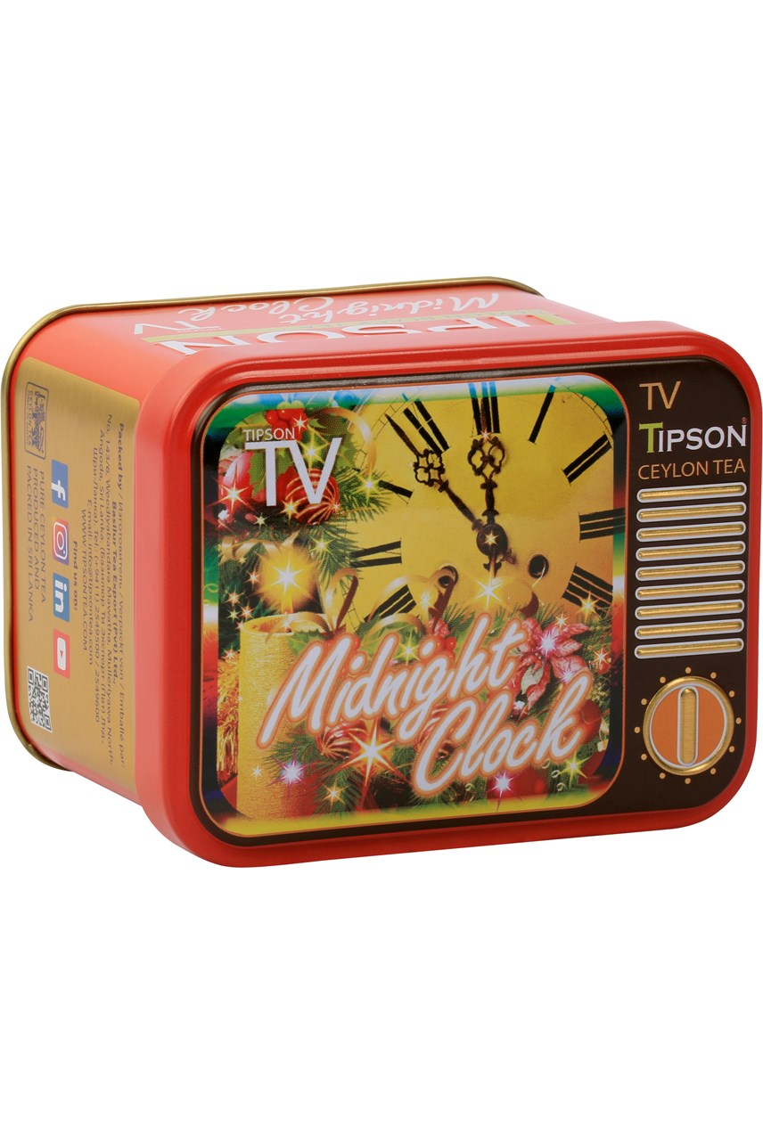 Midnight Clock TV Loose Leaf Caddy