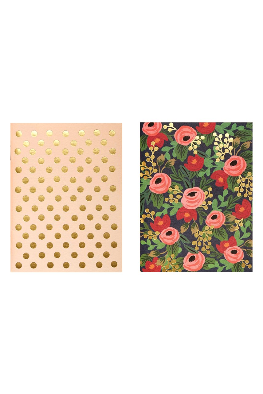 Rosa Plain Pocket Notebook - Set Of 2