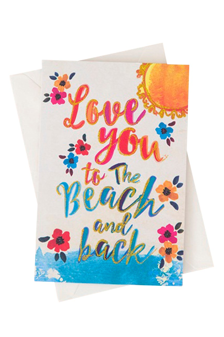 Love You Beach Back Card
