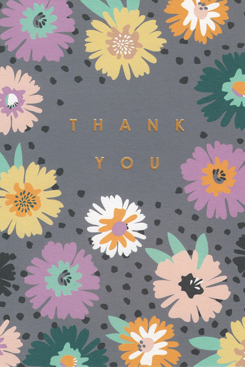 Thank You Pastel Flowers Card