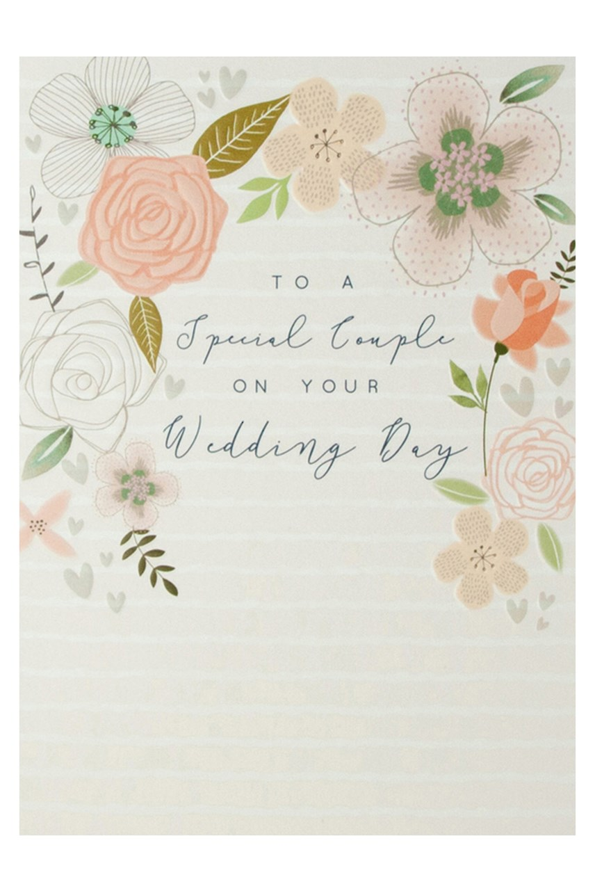Halcyon Floral Wedding Card